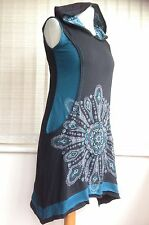 Etnika Slog XL 14 Extra Large Festival Psy Blue Black Star Dress Gringo Tunic