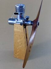 Vintage McCoy Model Airplane Engine Early 1950s, with custom stand, Steampunk