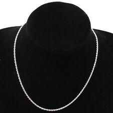 5x 130112 New Wholesale Plated Rhodium Twist Link Necklace Chain Findings 42cm