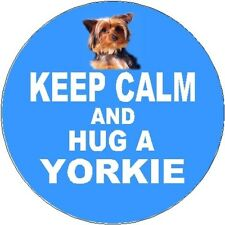2 Yorkshire Terrier / Yorkie Car Stickers (Keep Calm & Hug) By Starprint