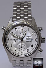 IWC Mens Spitfire Pilots Double Chrongraph Automatic Box/Papers 3713