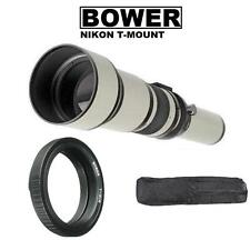 Bower 650-1300mm Telephoto Zoom Lens for Nikon Digital SLR Cameras (See listed)