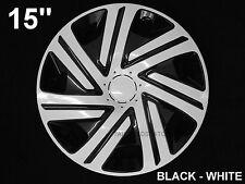 15'' Wheel trims Hub Cups for Ford Focus B-Max Fiesta Mk7 4 x 15'' black - white
