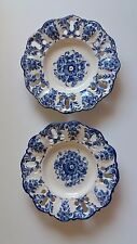 Lot of 2 Hand Painted Blue Decorative Plates ~ Jay Willfred ~ Andrea by Sadek