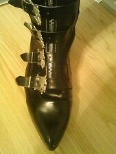 Skull buckle boots Gothic 80's St.Michael's size 9 US worn twice Rozz Williams