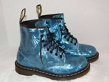 DOC (Dr) MARTENS Womens Size 8 (6UK) 39 Euro Scintillating Prism Blue 1460 Boots