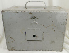 VINTAGE BRUMBERGER METAL CARRY CASE BOX WITH HANDLE
