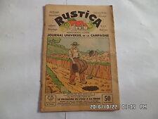 RUSTICA N°16 21/4/1935 PROBLEME DE L'EAU CAPTAGE PAR FOSSE LA TANCHE      G19
