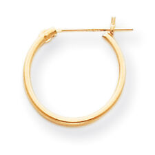 14K Yellow Gold Small 15mm Hinged Hoop Earrings Madi K Children's Jewelry
