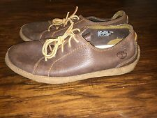Timberland Brown Leather Casual Lace Up Sneakers 30540 Men's Size 9.5M