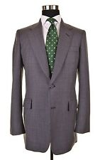VTG Hickey Freeman Boardroom Collection Gray Houndstooth Tweed Sport Coat 40 L