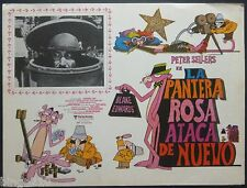 THE PINK PANTHER STRIKES AGAIN ORIGINAL 1976 MEXICAN LOBBY CARD PETER SELLERS