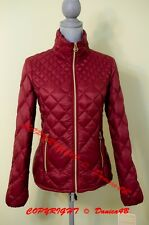 $190 New Michael Kors Quilted Down Packable Puffer Jacket Coat Small Dark Red