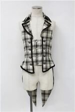 Alice and the Pirates swallowtail tartan vest - Japanese gothic lolita fashion