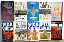 10 Books by W.E.B. GRIFFIN Free US s/h #A129 ADVENTURE MILITARY WAR Read List