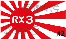 ROTARY JDM STICKERS for RX2 RX3 RX4 RX7 RX8 - RISING SUN RX3 #02