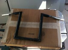 """12"""" RISE BLACK Z- BARS FOR WIDEGLIDE/SOFTAIL HARLEY"""