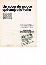PUBLICITE  1985   PETIT CREUX   biscuit coupe faim