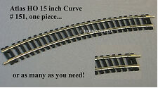 ATLAS HO CODE 100 15 INCH CURVE TRACK SECTIONS nickel silver rail 151 NEW