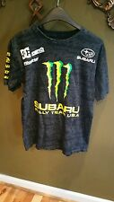 DC SHOES MONSTER KEN BLOCK STi KB 43 SUBARU RALLY TEAM BLACK SHIRT MENS Size M