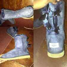 Navy Blue Baily Bow UGG Boots