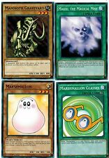 Marshmallon + Glasses + Makiu, the Magical Mist + Mammoth Graveyard 1st YUGIOh