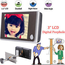 "3.5"" Night Vision LCD Digital Door Eye Doorbell Video Camera 120°Peephole Viewer"