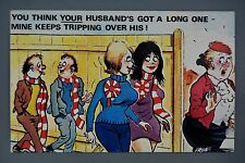 R&L Postcard: Comic, Cardtoon, Football Fans , Red & White Long Scarves