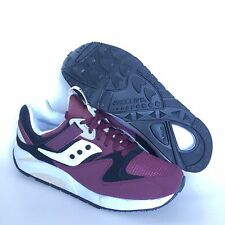 Saucony Grid 9000 Mens Sneakers Shoes Size 8.5 EUR 42 Premium Burgundy Trainers