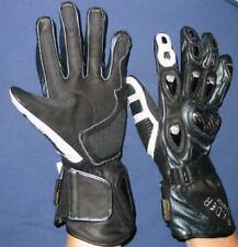 Ladies Motorcycle Motorbike Leather Gloves Racer Aero Power Size Medium