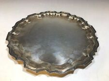 """LBS Co. Silver Plate Round Dish #1517 E.P.N.S. - 10""""D"""