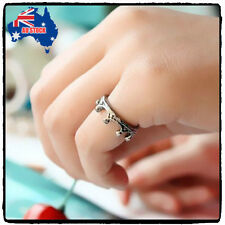 1pcs Korean Fashion Vintage Cute Alloy Antique Silver Color Crown Ring Christmas