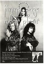 "10/12/94PGN05 ADVERT 10X7"" JIMMY PAGE & ROBERT PLANT : GALLOWS POLE"