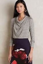 New Anthropologie Shimmered Cowlneck Sz XS Size X-Small NIP Blouse by Deletta