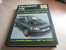 Haynes PEUGEOT 106 1991 to 2002 (J Reg Onwards) Petrol & Diesel       ONE OWNER