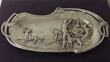 RAR! Jugendstil WMF Schale mit Diana-Jagdszene um 1900 ART NOUVEAU 40 cm lang