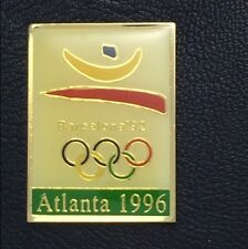 Olympic Pin Badge~Poster Pin~Barcelona 1992~1996 Atlanta~NEW on CARD