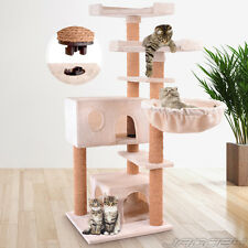Cat Tree Scratching Post Bed Climbing Toy Scratcher Activity Centre 128.2 cm