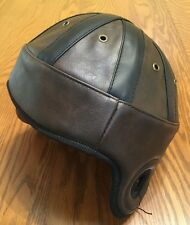 Rugby Helmet Football Vintage-Style Old Leatherhead Wembley Brown **New**