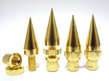 4x Gold Plated Copper Speaker Floor Stand Spike Base Cone +Gift 20x RCA Cover G4