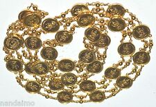 22K GOLD Yellow 916 SOLID Necklace LAKSHMI COIN KAASI MALA NOT Scrap NEW
