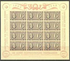 ZW - Zwitserland Blok 9 100 jahre briefmarke ** postfris