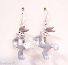 "Classic Looney Tunes Show Bugs Bunny 1"" Mini Figures Figurines Dangle Earrings"