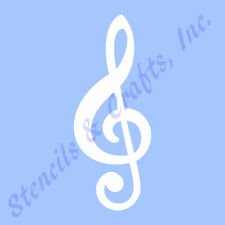 "5"" TREBLE CLEF STENCIL MUSIC  MUSICAL NOTES STENCILS NOTE TEMPLATE TEMPLATES NEW"