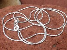 "925 SILVER 1MM CABLE CHAIN/NECKLACE 22"" INCHES HANDCRAFTED JEWELLERY"