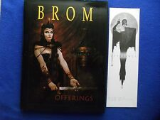 OFFERINGS HARDBACK EDITION W/SIGNED BOOKPLATE  BROM ~ SIGNED! ~ 1ST PRINT 2001