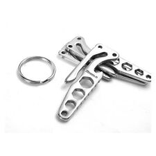 New Stainless Steel Pocket Spanner Multi-Tool Opener Keychain Wrench Ring EDC