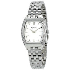 Bulova 96R196 Women's Diamond White Dial Silver Stainless Steel Bracelet Watch