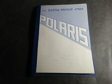 1971 POLARIS SNOWMOBILE PARTS MANUAL PRICE LIST READ  (604)