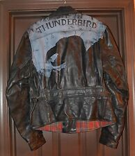 VINTAGE LEVIS! BIRD OF PREY MOTORCYCLE JACKET! LVC X AERO LEATHER! HEAVY DUTY! M